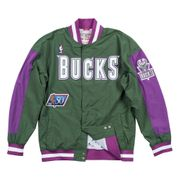 Veste d'échauffement M&N Nba Milwaukee Bucks