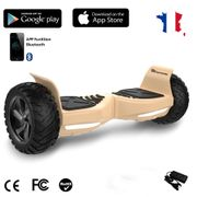 EVERCROSS Hoverboard Challenger G2 8.5 pouces,  Gyropode Overboard SUV Hummer Tout Terrain avec Bluetooth, Doré