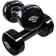2 haltères vinyle fitness poids 2 x 5 kg sport fitness musculation Helloshop26 0708027