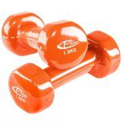 2 haltères vinyle fitness poids 2 x 1,5 kg sport fitness musculation Helloshop26 0708023