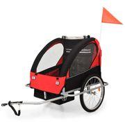 Remorques de vélo Admirable Remorque à vélo et poussette pour enfants 2-en-1 Rouge et noir