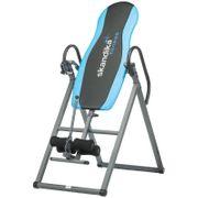 Gravity Coach - Table d'inversion pliante pour exercices du dos - 4 positions - Jusqu'à 135kg - Gris et Bleu