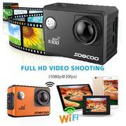 Caméra de sport- S100 2.0 pouces Écran 4K 170 Degrés grand Angle WiFi Sport Caméra d'Action Caméscope avec Boîtier Étanche Cas, le
