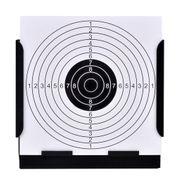 Cibles de tir Moderne Porte-cible carré avec piège à plombs + 100 cibles en papier 14 cm