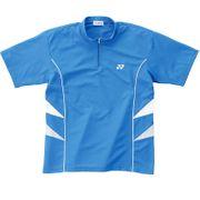Polo Yonex bleu blanc zippé badminton tennis