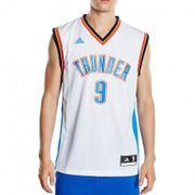 Maillot Replica S. Ibaka O.C. Thunder Basketball Blanc Homme Adidas