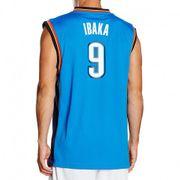 Maillot Replica Serge Ibaka Oklahoma Bleu Basketball Homme Adidas
