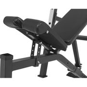 Gorilla Sports - Banc de musculation avec repose-barre séparé NOIR ou BLANC