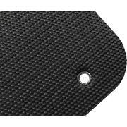 Gorilla Sports - Tapis de Yoga Noir à Œillets 101 x 60 x 1cm