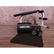 Gorilla Sports - Six Pack Abdominaux Set 4 éléments - coussin, core wheels, Tapis de Yoga, Banc abdominaux