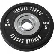 Gorilla Sports - Disques Bumpers en caoutchouc renforcé Pros de 5 kg à 25 kg