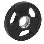 Gorilla Sports - Poids disques olympiques en fonte rêvetement caoutchouc avec anneau métalliquede 51mm - de 12,5 à 25 kg