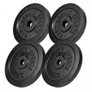 Gorilla Sports - Lot de 2 x 5kg et 2 x 10kg en fonte noir de diamètre 31mm