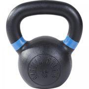 Gorilla Sports - Kettlebell en fonte noir avec couleur rayé poignées disponible de 4kg  à 32kg - Haltère russe