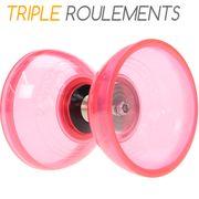 Diabolo triple roulements Cyclone Quartz V2 Rose