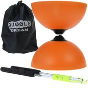 Diabolo Circus light Orange + baguettes en aluminium + sac