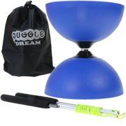 Diabolo Circus light Bleu + baguettes en aluminium + sac