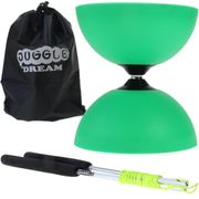 Diabolo Circus light Vert + baguettes en aluminium + sac