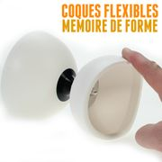 Diabolo Circus light Blanc + baguettes en aluminium + sac