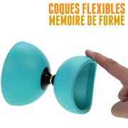 Diabolo Circus light de Henry's turquoise + sac + ficelle + baguettes superglass