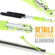 Kit diabolo Jazz aluminium vert + baguettes aluminium + 10 mètres de ficelle + sac de rangement