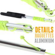 Kit diabolo Jazz Free noir + baguettes aluminium + 10 mètres de ficelle + sac de rangement