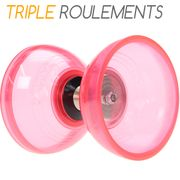 Kit diabolo Cyclone Quartz rose + baguettes superglass + ficelle + sac de rangement