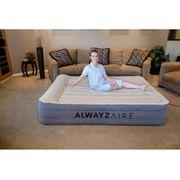 Bestway Matelas gonflable AlwayzAire 2 personnes 203 x 152 43 cm Crème