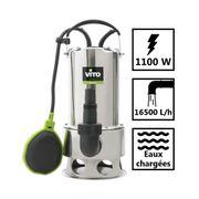 Pompe d?évacuation VITO pour eaux chargées 1100W - Vide piscine, eaux de pluie, cave - Câble électrique 10m