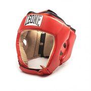 Casque de boxe compétition Léone rouge Taille - M