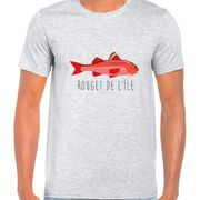 T Shirt Col Rond Imprime Rouget