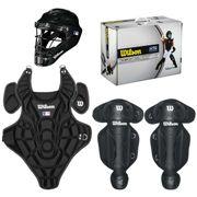Kit Pour Catcher Enfant Wilson Noir taille - L / XL