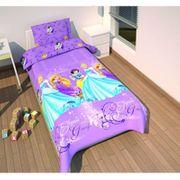 Housse de couette Princess Disney enfant 135 x200 cm lit 1 place - taille unique  Violet