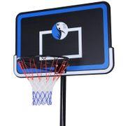 Panier de Basket-Ball sur pied avec poteau panneau, base de lestage sur roulettes hauteur réglable 2,6 - 3,05 m noir bleu