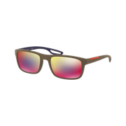 Prada SPS03R Rubber Brown Rouge Multicouches