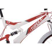VTT tout suspendu 24'' Topeka blanc-rouge TC 41 cm KS Cycling
