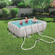Bestway Ensemble de piscine Power Steel Rectangulaire 56629