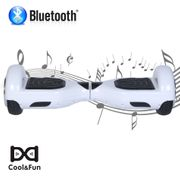 PACK COOL&FUN Hoverboard Bluetooth 6.5 Pouces Blanc + Hoverkart Hip - KIT KART GYROPODE Overboard Smart Scooter