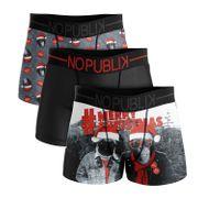 No Publik - Lot De 3 Boxers Microfibre Homme Merry Christmas