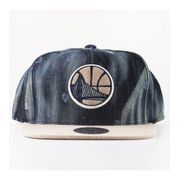 Casquette Mitchell & Ness Golden States Warriors Snapback Noir Blanche Denim