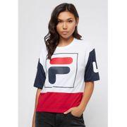 T-shirt tricolore avec patch Late
