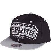 S.A. Spurs Homme Snapback Basketball Noir Mitchell & Ness