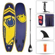 Stand up Paddle gonflable PLAYER 9'8 (299cm) 32'' (81cm) 6'' (15cm) - SUP avec dérive centale et support caméra, livré avec pompe, Pagaie et Sac de transport