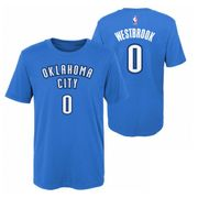 T-shirt NBA Russell Westbrook Oklahoma Thunders Bleu pour enfant taille - XL (165-175cm)