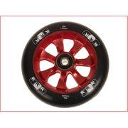 Roue de trottinette 7 spokes 110 mm red noir