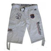 Bermuda pantacourt enfant fashion blanc taille de 8 à 16 ans