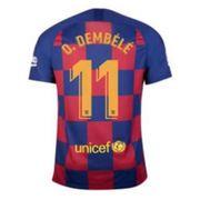 Nouveau Maillot Nike Enfant FC Barcelone Domicile Flocage Officiel O.Dembélé Numéro 11 Saison 2019/2020