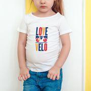 T-shirt fille Love velo