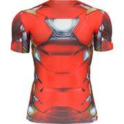 T-shirt Compression Under Armour à manches courtes Iron Man