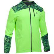 Under Armour Storm Run Printed Mens Running Jacket Coat Green - L